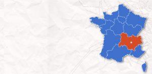 carte France Auvergne Rhône-Alpes