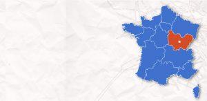 carte France Bourgogne Franche-Comte