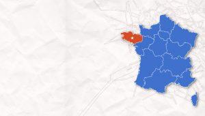 carte france region Bretagne
