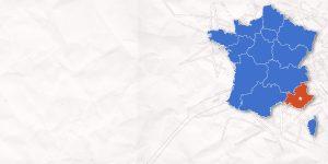 Carte France PACA